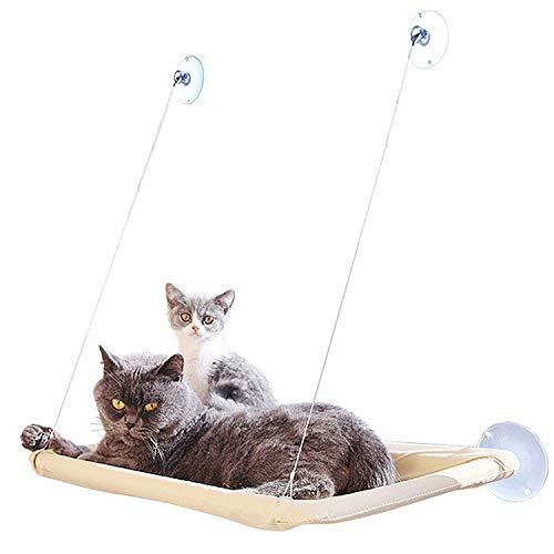Inntek Katzen Fensterplatz Window Lounger Katzen Hängematte + Katzendecke, Sonnenbad Katzenbett Haustierbett für Haustier Katze klein Hund Kaninchen oder Andere Kleintiere bis zu 20kg