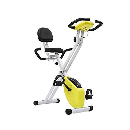Cyclette pieghevole con supporto posteriore, ultra-silenzioso biciclette regolabile allenamento...