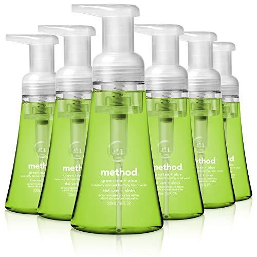 Method Foaming Hand Soap, Green Tea + Aloe, 10 oz, 6 pack, Packaging May Vary