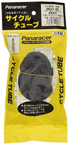 パナレーサー(Panaracer) 日本製 チューブ [H/E 26x1.25] 仏式バルブ(34mm) 0TH26-125F-NP