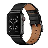 OUHENG Compatible with Apple Watch Band 42mm 44mm, Genuine Leather Band Replacement Strap Compatible...