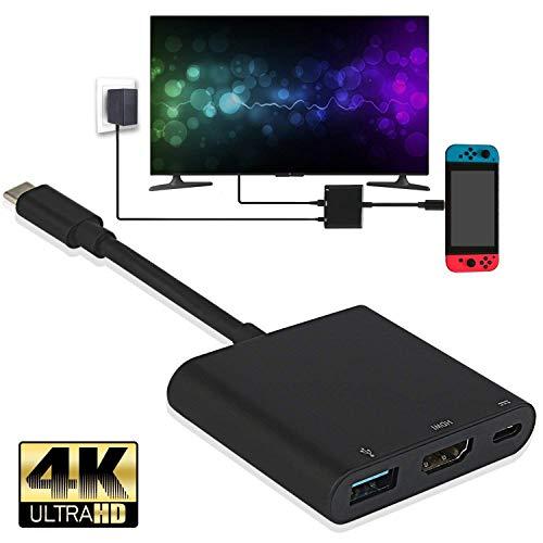 Nintendo Switch 専用 3In1 Type-C to HDMI変換アダプタ 4K解像度 ドックセット HDMI変換 テレビ コンピュ...