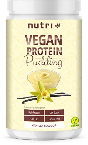 PROTEIN PUDDING VEGAN Vanille 500g - 84,8% Eiweiß - nur 113 Kalorien - Low Sugar Dessert - Zuckerarm - Laktosefrei - Kalorienarm - Glutenfrei