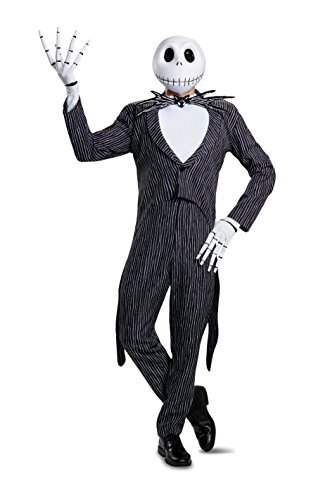 Disguise Jack Skellington Prestige Mens Fancy Dress Costume 2X-Large