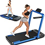 ANCHEER 2 in 1 Under Desk Treadmill, Fitness Electric Folding Treadmill Machine for Home, Portable Running Walking Motorized Exercise Treadmill Machine with Remote Control and LCD Display