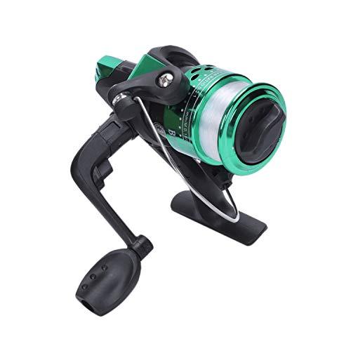 ACAMPTAR Electroplating Fishing Reel Gear Ratio 5.1: 1 Mulinello da Spinning con Filo da Pesca Hot Verde