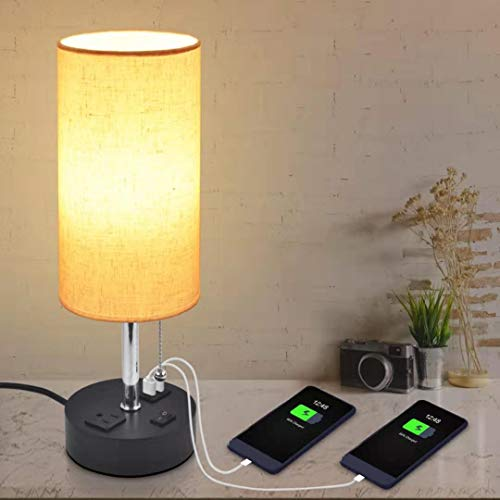 usb table lamps for bedroom