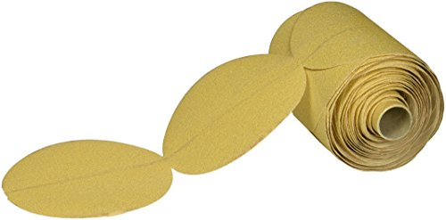 United Abrasives- SAIT 36505 5-Inch A220C PSA Disc Roll, Gold, 100-Pack