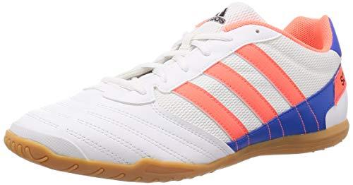 Adidas Super Sala, Zapatillas Deportivas Fútbol Hombre, Blanco (FTWR White/Signal Coral/Glory Blue), 43 1/3 EU