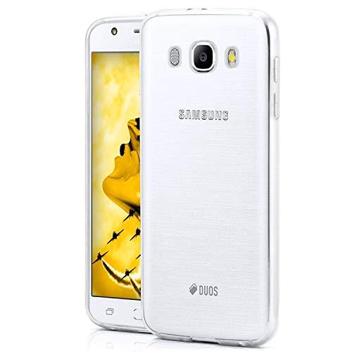 NEW'C Cover per Samsung Galaxy J5 2016, Custodia Gel Trasparente Morbida Silicone Sottile TPU [Ultra Leggera e Chiaro]