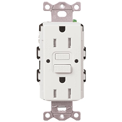 Lutron CAR-15-GFST-WH Claro 15-Amp Self-Testing Receptacle, White