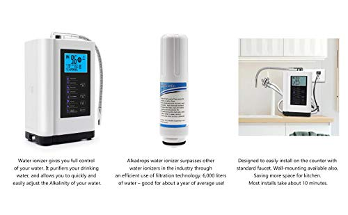 Product Image 5: AlkaDrops Water Ionizer, Water Purifier Machine PH 3.5-10.5 Alkaline Acid Water Machine,Up to -500mV ORP, 6000 Liters Per Filter,7 Water Settings,Auto-Cleaning,Intelligent Voice