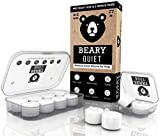 Ear Plugs for Sleeping by Beary Quiet - 6 Pairs - Custom Fit Reusable Soft Silicone Earplugs - The Best Ear Plugs for Sleeping
