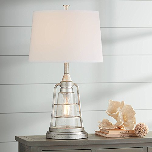 Fisher Nautical Table Lamp with Nightlight Antique LED Edison...