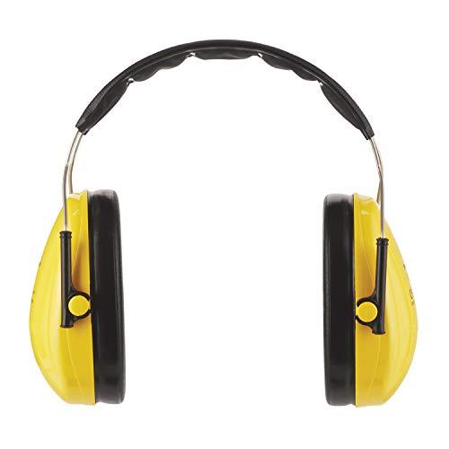 3M Peltor Optime I Kapselgehörschützer gelb - Gehörschutz mit verstellbarem Kopfbügel für Lärm bis 98dB - SNR 27 Hörschutz mit hohem Tragekomfort und geringem Gewicht