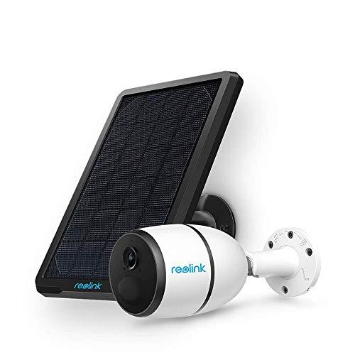 Reolink Go 3G/4G Sim Telecamera Batteria Senza Fili da Esterno, WiFi IP Camera con Pannello Solare, Sensore di Movimento PIR, 1080p HD Visione Notturna Audio a 2 Vie, con Slot Micro SD Card