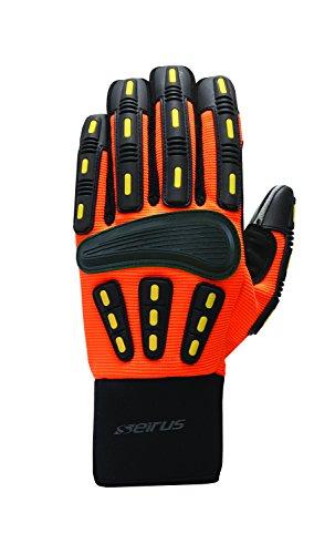 Seirus Innovation Men's Hws Gripper Glove, His-Vis Orange, Medium