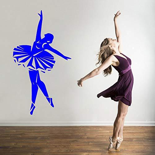 zhuziji New Girl Dancing Decorazioni per la casa Decalcomania in PVC Camera da Letto Nursery...