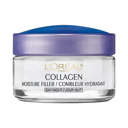 Collagen Face Moisturizer by LOreal Paris Skin Care I Day and Night Cream I Anti-Aging Face Cream to Smooth Wrinkles I Non-Greasy I 1.7 oz.