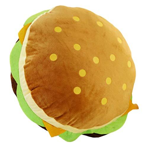 VOSAREA Cuscino da tiro Morbido a Forma di Hamburger Cuscino Lombare Divano Schienale Cuscino Decorazione Finestra Cuscino Hamburger Giocattolo 30cm