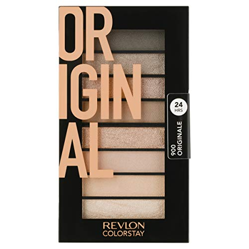 Revlon ColorStay Looks Book Eyeshadow Palette, Longwear Vibrant Eye Colors in Mix of Shimmer, Matte and Metallic Finish, Original (900), 3.4 oz