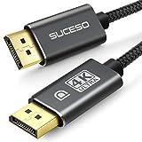 SUCESO Cable DisplayPort - 2 Metros, Cable DP a DP 4K@60Hz, 2K@144Hz, 2K@165Hz 3D Nylon Trenzado Cable Displayport a Displayport de Alta Velocidad Compatible con HDTV, PC, Laptop y Monitores