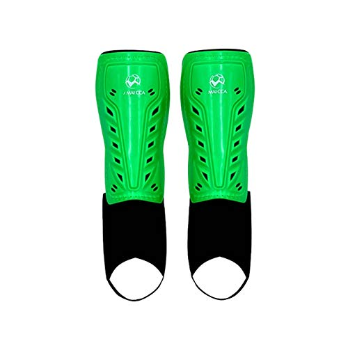 Ginocchiere,Knee Support Adulti di calcio Shin Guards Calzini Bands Band Belt Football Shields Guard Guard Protector Kickboxing Attrezzatura Karate Sport Training Gear (Color : Green)