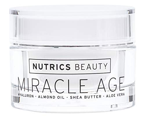 Nutrics Beauty | Anti Age Tages und Nachtcreme | Hyaluronsäure + Aloe Vera + Shea Butter | 50 ml | Ohne Silikone - Made in Germany