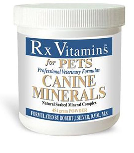 Rx Vitamins Canine Minerals for Dogs - Veterinary Formula Natural Seabed Mineral Complex - Calcium Carbonate - Powder 454g