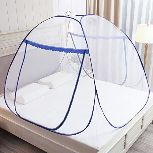 Moustiquaire Pop Up pour lit double, fermeture à glissière à double...