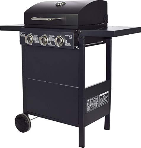 ACTIVA Action Grill Barbecue à gaz avec 3 brûleurs 2,7 kW chacun Noir Grille chromée