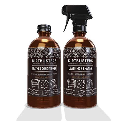 Dirtbusters, detergente e idratante per pelle, con aroma di pelle, 2 confezioni da 500 ml, formula...
