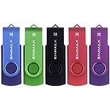 SIMMAX Clé USB 32 Go Lot de 5 USB 2.0 Flash Drive Pivotant Stockage Disque...