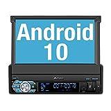 "PUMPKIN Android 10 Radio 1 DIN con GPS Navegador, Autoradio con DSP Incorporado Soporte Bluetooth, Control Volante, WiFi, USB, SD, Mirror-Link, con 7"" Pantalla Táctil"