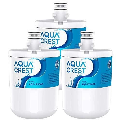 LT500P Vertical Refrigerator Water Filter of AQUA CREST, Compatible with 5231JA2002A, ADQ72910901, ADQ72910907, Kenmore 9890, 46-9890, GEN11042FR-08, LFX25974ST (Pack of 3)