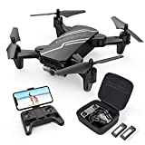 DEERC D20 Mini Drone for Kids with 720P HD FPV Camera Remote Control Toys Gifts for Boys Girls with Altitude Hold, Headless Mode, One Key Start Speed Adjustment, 3D Flips 2 Batteries, Black