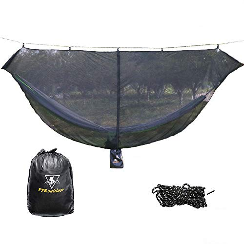pys Hammock Bug Net - 12' Hammock Mosquito Net Fits All Camping Hammocks, Compact, Lightweight and Fast Easy Set Up, Security from Bugs and Mosquitoes, Essential Camping and Survival Gear
