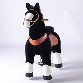 PonyCycle, Caballo Negro / Blanco Medio - Mane Negro