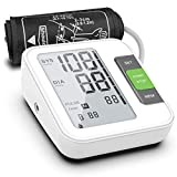 [2020 New] Blood Pressure Monitor, Fully Automatic Upper Arm BP Machine with Cuff 8.7' - 15.7', 240 Memory, 2 Users, LCD, Intelligent Broadcast - FDA Approved