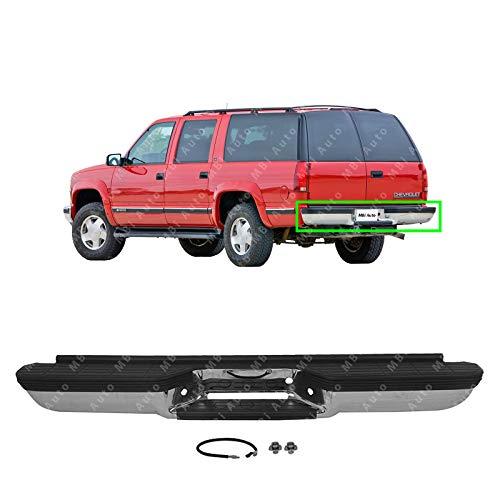 MBI AUTO - Chrome, Steel Rear Bumper Direct Fit for 1992-2000 Chevy Suburban GMC Yukon 92-00, GM1102294