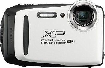 Fujifilm FinePix XP130 Waterproof Digital Camera w/16GB SD Card - White