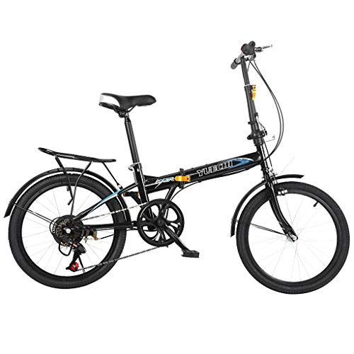 Leisure 20in 7 Speed City Folding Mini Compact Bike Bicycle Urban Commuter with Back Rack