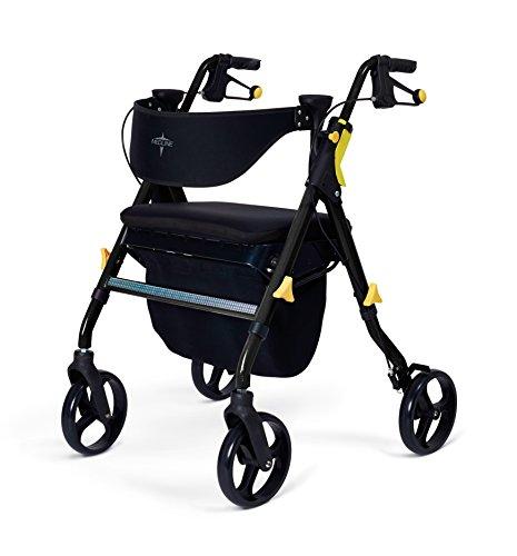 Medline Premium Empower Folding Rollator Walker with 8' Wheels.