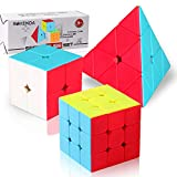 ROXENDA Ensemble Cube Magique, Speed Cube Set de 2x2x2 3x3x3 Pyramide...