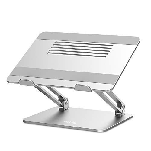 BoYata Laptopständer, Multi-Angle Laptop Ständer mit Heat-Vent, Verstellbarer Notebook Ständer Kompatibel für Laptops (11-17 Zoll) einschließlich MacBook Pro/Air, Lenovo, Samsung, HP (Silber)