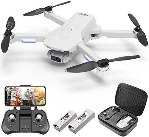 4DRC F8 Drone con Telecamera 4K UHD Drone GPS Pieghevole FPV RC con Ritorno Automatico a Casa, modalità Ritorno Home,Seguimi, Controllo Gestuale, 2 Batterie per 40 Minuti Volo e Valigetta da Trasporto