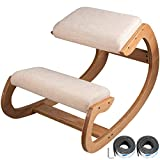 Tuorren Ergonomic Kneeling Chair Heavy Duty Better Posture Kneeling Stool Office Chair Home for Body Shaping Relieveing Stress Meditation Desk Computer Kneeling Stool Chair