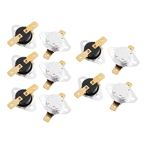 IIVVERR 10 Pcs KSD301 AC 250V 10A 90C Thermostat Temperature Thermal Control Switch (10 Unids KSD301 AC 250V 10A 90C Termostato Temperatura Interruptor de Control Trmico