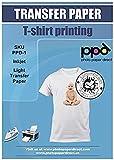 PPD Papier Transfert Jet D'Encre (Inkjet) à repasser sur T-shirts/Textiles...