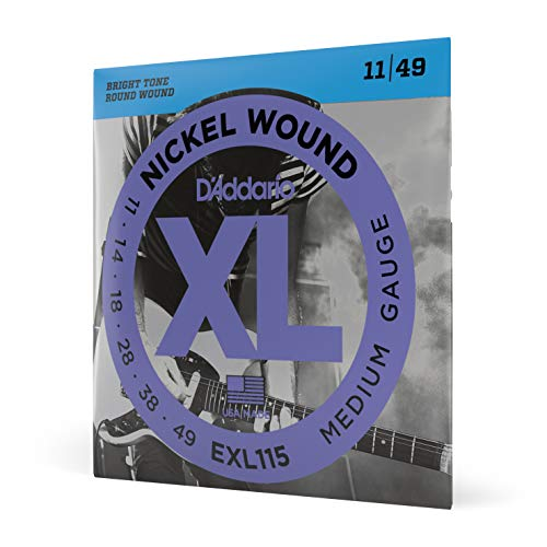 D'Addario EXL115 Electric Guitar Strings 11 -49